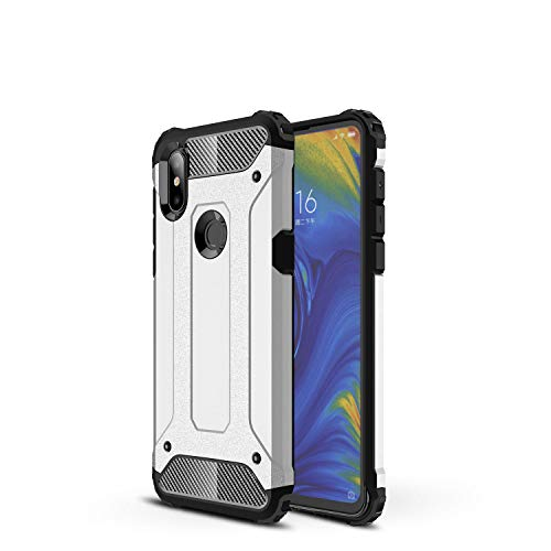 Botongda Funda Xiaomi Mi Mix 3 5G,Carcasa Resistente a los Golpes y a los arañazos con Tapa Posterior con una combinación de PC Resistente y TPU Suave para Xiaomi Mi Mix 3 5G(Plata)