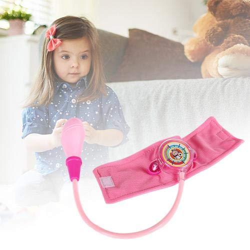 Opfury Blutdruck Spielzeug Simulation Stethoskop Medizinische,Krankenschwester Puppe Blutdruck SpielsetKinder Blutdruckmessgerät Spielzeug Hausarzt Spielen Passt für Kind Hausarzt Krankenschwestern