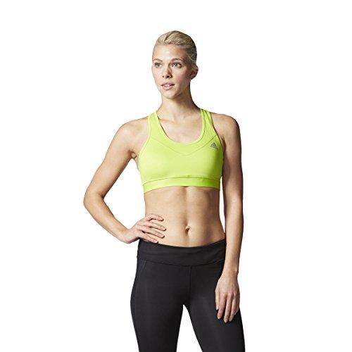 adidas Damen Sport-BH Techfit, Semi Solar Slime/Matte Silver, S
