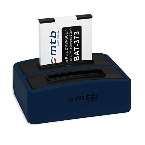 Batterie + Double Chargeur (USB) pour DMW-BCL7, BCL7E | Panasonic Lumix DMC-F5, FH10, FS50, SZ3, SZ8, SZ9, SZ10, XS1, XS3 (Cable Micro USB Inclus)