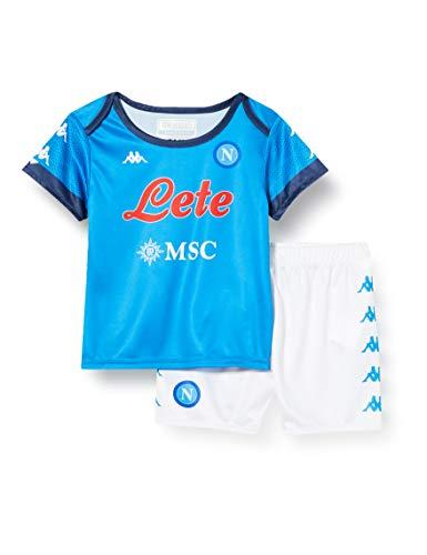 ssc napoli, Kit Gara Baby Home 2020/21 Unisex Bambini, Azzurro-Blu, 24M