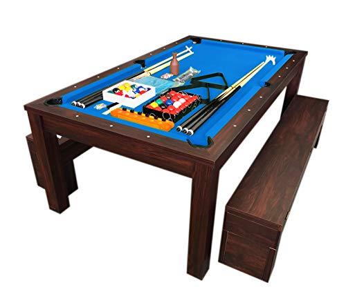 grafica ma.ro srl Billardtisch Billard 7 FT Billard-Spiel und Containerbänke mit Tischplatte Rich Blaum