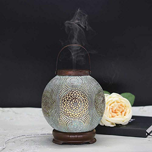 YSNMM 120 ml Mist Maker luchtbevochtiger aroma diffuser met etherische oliën ultrasone elektronische luchtbevochtiger handgemaakt ijzer Home Spa lampen