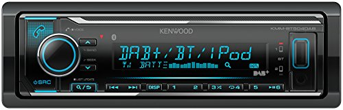 Kenwood Electronics KMM-BT504DAB Bluetooth Negro receptor multimedia para coche - Radio para coche (Negro, 1 DIN, 50 W, MOSFET, AAC,MP3,WAV,WMA, LCD)