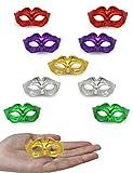 Yiseng Mini Masquerade Mask Party Decoration 10pcs Small Mardi Gras Masks Novelty Cupcake Toppers...