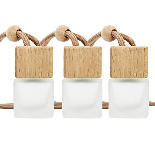 Mumaya 3 Pack Air Freshner Car Hanging Profumo Bottiglia Vuota Diffusore di fragranza Ricaricabile Bottiglia di Vetro Vuota, Bottiglia di Profumo per profumatore per Auto Riutilizzabile