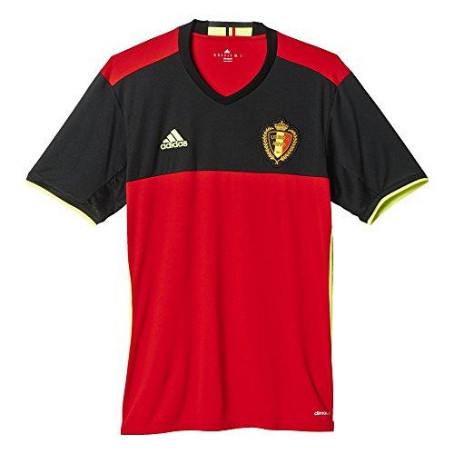 adidas Men's Belgium Home Replica Soccer Jersey 2016 (Medium)