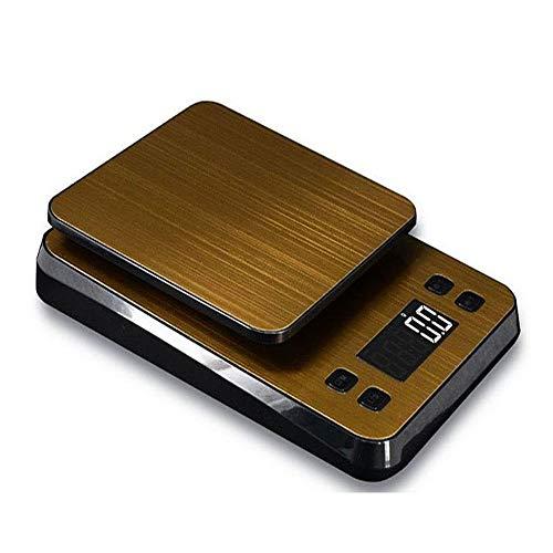 Báscula de café de alimentos, báscula de alimentos multifuncionales digitales, con batería baja y sobrecarga. Función de la función-báscula de café, la cerveza de café, la bebida y el uso general de l