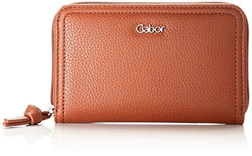 Gabor Geldbörse mit Reißverschluss Damen, Cognac, Sumba, 16,5x2,5x10,5 cm, Geldbeutel, Portemonnaie