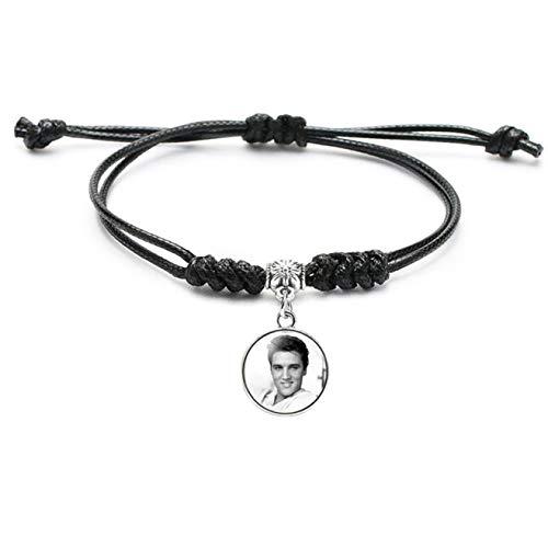 Noah Significant Elvis Presley Mode Sieraden Zwart Gevlochten Armband Mannen Vrouwen Mode