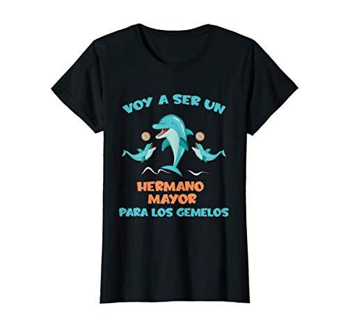 Voy a Ser un Hermano Mayor Para Los Gemelos Delfín Camiseta
