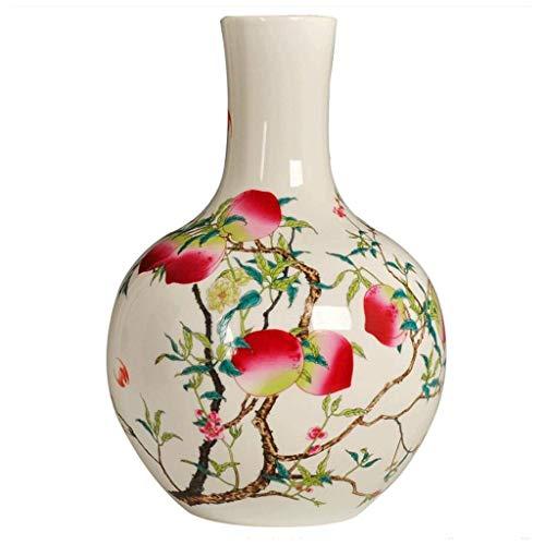 Jingdezhen Jarrón de cerámica Antiguo Retro Botella Productos artesanales caseros chinos Insertar Adecuado para sala de estar, escritorio, hogar, decoración de habitación modelo, oficina o regalo
