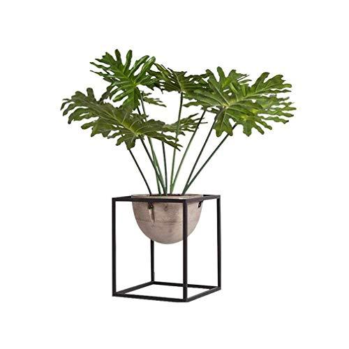 LQCM Kreative Simulation Startseite Landschaft Stand-Schmiedeeisen-Blumen-Rahmen-Dekoration 109 (Size : Small)