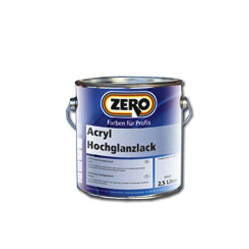 Zero Acryl Hochglanzlack 2,5 Liter weiß