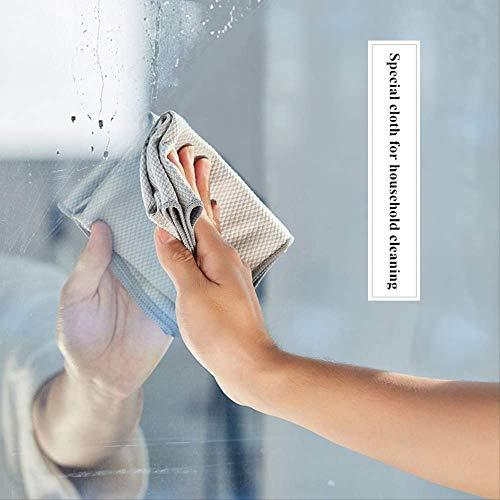 JIAXIA Productos de Limpieza Toalla de Limpieza de Vidrio de, paño de de Espejo, Toalla de Limpieza, paño de Vidrio de sin Rastro sin Pelusa,Trapo de Textura de de Pescado 3pcs 40-40cm Color al Azar