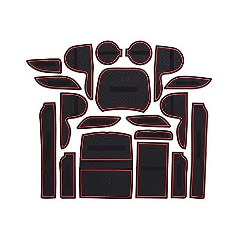 BHQMV Caoutchouc antidérapant Tapis de Gorge de Gorge de Gorge de la gobelette de la gate Slot Accessoires de Voiture/Fit pour Hyundai...