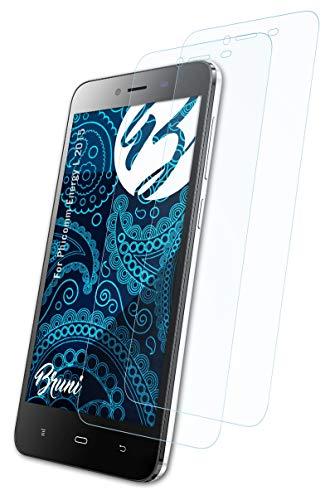 Bruni Schutzfolie kompatibel mit Phicomm Energy L 2015 Folie, glasklare Bildschirmschutzfolie (2X)