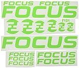 Ecoshirt U8-FTBU-QIJM Pegatinas Focus R121 Vinilo Adesivi Decal Aufkleber Клей MTB Stickers Bike, Verde