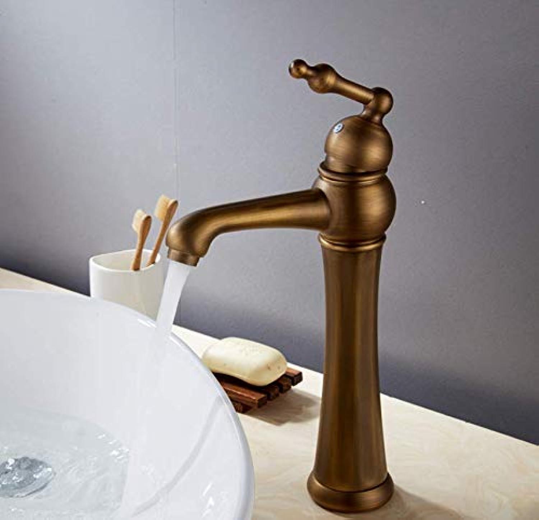 Becken Wasserhahnwaschtischarmaturen Antike Badezimmer Becken Mischbatterie Messing Heien Und Kalten Wasserhahn Vintage Einlochmontage Wasserhhne