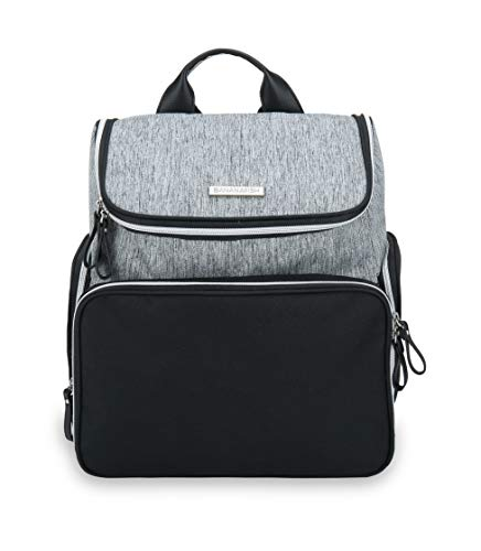 Bananafish Breast Pump Bag - Large Backpack Great for Travel with Breast Pump - Carrying Bag has Accessory and Cooler Pockets - Fits Most Major Brands Including Medela and Spectra, Grey/Black