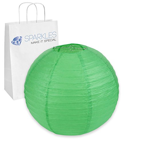 "Sparkles Make It Special 5-pcs 20"" inch Chinese Paper Lantern - Green - Wedding Party Event Decoration - 13 Colors and 8 Sizes Available"