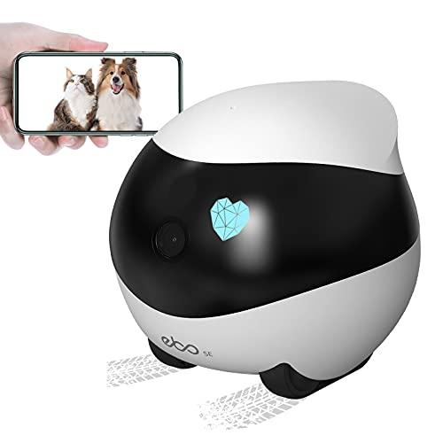 Enabot Ebo SE móvil Cámara para Mascotas inalámbrica 1080P HD Vigilabebés con Cámara Cámara para Perros Cámara IP WiFi visión Nocturna Crucero automático y Carga automática Audio bidireccional