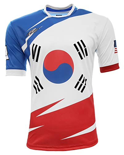 Arza Sports Korea and USA Fan Jersey (Large) White