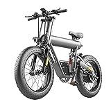 Bicicleta eléctrica para adultos 50 mph 20' X 4. 0 Llanta gruesa Batería de bicicleta eléctrica Aleación de aluminio 48V 500W Motor Bicicleta eléctrica de montaña de 7 velocidades