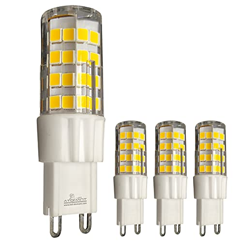 Pack 4x Bombillas LED G9 De 5w. REGULABLE. Color Blanco Neutro (4500K). Equivalentes A Bombillas Halógenas De...