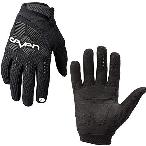 OUYAWEI - Guantes de ciclismo para bicicleta de montaña, resistentes al viento, para todoterreno, MTB y motocross, color negro, tamaño medium