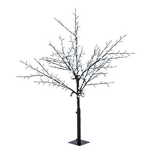 Blumfeldt Hanami CW 180 - Weihnachtsdekoration, Lichterbaum, Außenbeleuchtung, Kirschblüten-Design, 336 LED, kaltweiß, geringer Stromverbrauch, 1,8 m Höhe, schwarz