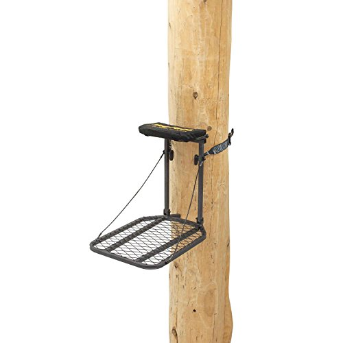 """Rivers Edge RE553, Big FootTraveler, Lever-Action Hang-On Tree Stand with Padded Flip-up Seat, Compact 27.5"""" x 18"""" Platform"""