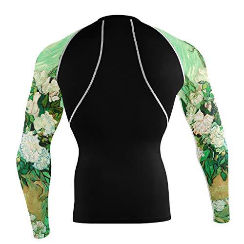 Fantazio Van Gogh Roses Chemise de sport à manches longues pour vélo de montagne - - XL