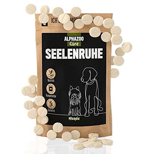 alphazoo Seelenruhe 50 compresse | Integratore Calmante, Calmante per Cani Rilassamento e Riduzione dello stress per cani | lenitivo con olio di canapa contro la paura