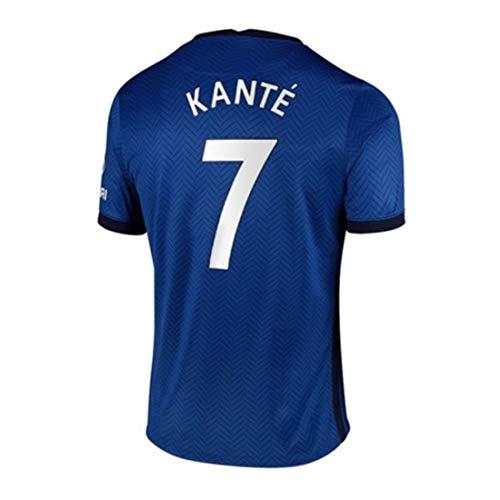 YUUY Fußball-Jersey Set N'Golo Kanté # 7 Unisex Sleeveless T-Shirt, Feiertagsgeschenk (Color : B, Size : Child-24)