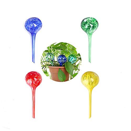 Cratone Bunte Bewässerungskugel Blumenbewässerung aus Glas Gießarm- Bewässerungs-Kugeln kleine selbstbewässernder Blumentopf Ø 7 cm H 20cm für topfpflanzen