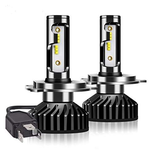 GCS Gcsheng Faros de Coches H4 H7 LED CANBUS H1 H3 H8 H9 H11 9005 HB3 9006 HB4 880 881 H27 Zes Bombilla LED 100W 12000LM Luz de Niebla automática 12V (Socket Type : H7)