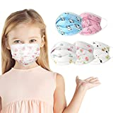50Pack Kids Disposable Face Mask 3 Ply Disposable Kids Face Mask For Children Built-In Nose Bridge Fixing Strip Elastic Ear Hooks, Comfortable To Wear Suitable for all occasions