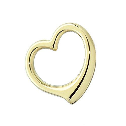 NKlaus 333 catene con pendente a cuore in oro giallo 16,7x16 mm lucido ragazze ragazze 4754