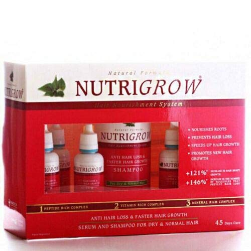 Nutrigrow Anti Hair Loss & Faster Hair Growth Serum Set Greasy Hair