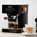 ECODE Cafetera Espresso Forte Touch, 20 Bar, Panel Táctil, Estructura INOX, Boquilla De Espuma Capuccinatore, 1.6 litros, Express, 1050 Watts ECO-420
