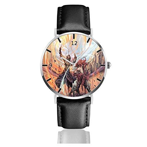 Los niños Miran Reloj Pulsera niño Historieta 3D Impermeable Rurouni Kenshin Pantalla Redonda 38mm Batería de botón Poder Unisex Watch