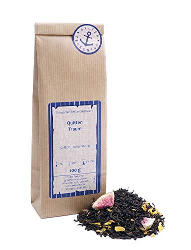 Schwarzer Tee lose Quitten Traum Pfirsich, Sonnenblumen, Feigen Schwarztee 100g
