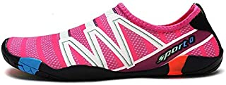 New 2019 Couple Swimming Shoes, Non-Slip Feet, Beach Shoes, Diving, Outdoor, Wading, Upstream Shoes (Color : Rosy, Size : 45)