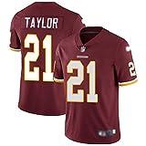 21# Sean Taylor Maillot de Football américain, Taylor # 21 Maillot de Rugby Fan Sport Chemise à Manches Courtes vêtements de Sport vêtements d'entraînement-Red-S