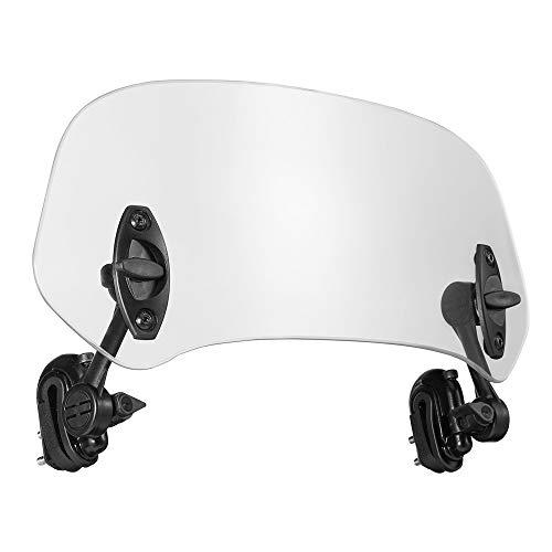 kemimoto バイク 風防 スクリーン エクステンション ウインドシールド スポイラーエアデフレクター R1200GS/F800GS/Tmax/ヤマハ/BMW用 透明