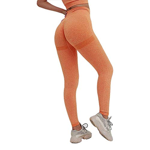 Dames Yoga Broek Leggings,naadloos Breien Hygroscopisch Ademend Hoge Taille Joggingbroek Voor Sportschool Training