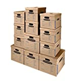 Best Book Boxes - Bankers Box SmoothMove Classic Moving Kit Boxes, Tape-Free Review
