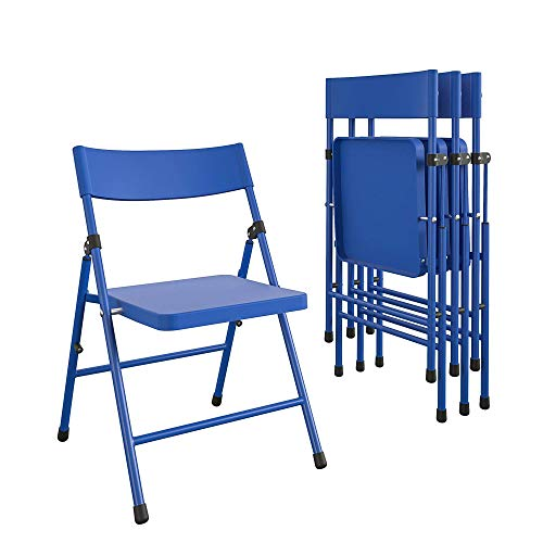Safety First by COSCO Children's Pinch-Free Folding Chair, Blue, (4-pack)