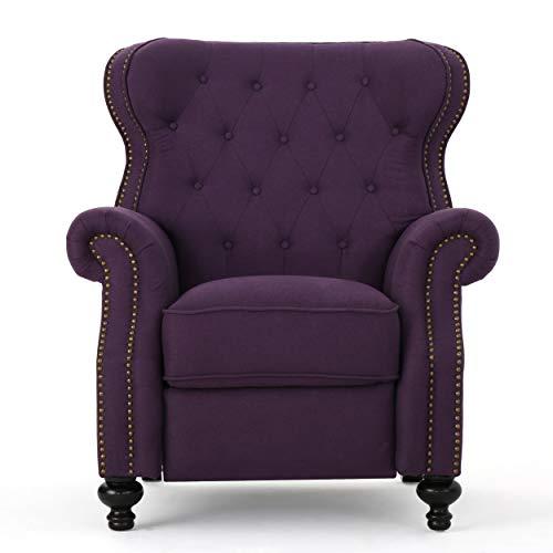 Waldo Tufted Wingback Recliner Chair(Plum)